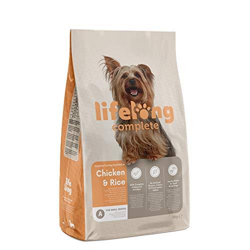 Marchio Amazon- Lifelong Complete - Alimento secco completo per cani adulti (razze di piccola taglia) ricco in pollo e riso, 1 x 3kg