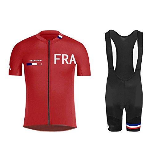 Uglyfrog #03 Bike Wear Sommer Herren Radsport Trikots & Shirts Country - Code Kurzarm Cycling Jersey + Bib Shorts Sport Bekleidung Kit