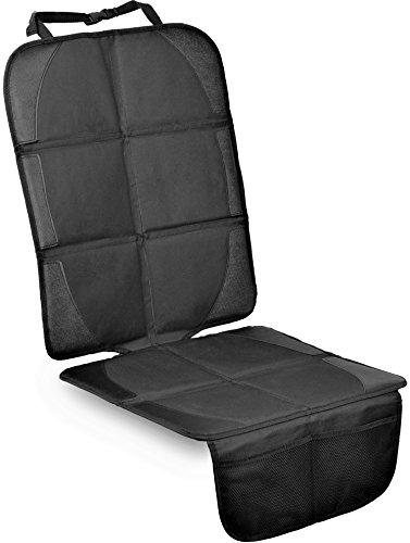 Kindersitzunterlage, ISOFIX geeignete Unterlage für Kindersitze, Sitzschoner zum Schutz Ihrer Autositze (Schwarz)