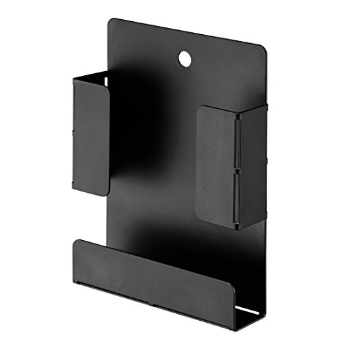 Hama VESA-Halterung für TV-Zubehör wie Fernbedienungen (Kabel, externe Festplatten, Montage an Fernsehrückwand oder Wand (10,4 x 2,7 x 14,2 cm)) schwarz