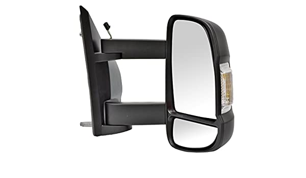 RH Ultimate Styling Replacement Cable None Power Folding Wing Door Mirror With Non-Heated Glass With Primed Mirror Cover Cap Side Of Product Drivers Side