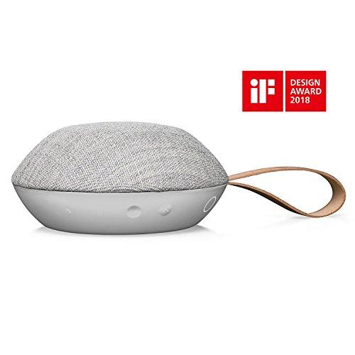 Vifa Reykjavik - Portabler Kabellos Lautsprecher mit Bluetooth - Sandsteingrau