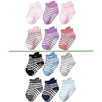 Midshop Calzini antiscivolo per bambino e bambina Neonato Neonata cotone 100% da 0 a 5 anni