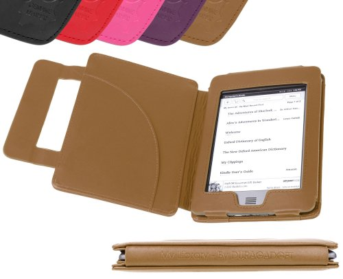 DURAGADGET 5054646713256 5054646713256 Tablet-Schutzhülle, Kindle Touch, Brown (Book Style), Stück: 1 - Eink-cover Kindle