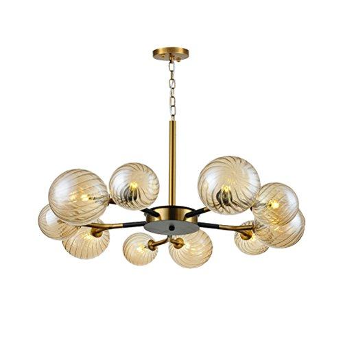 LUYIASI- Amerikanischen Französisch Moderne Licht Einfache Goldene Molekulare Glas Kronleuchter Kreative Wohnzimmer Lampe Schlafzimmer Licht bathtub (Französisch Glas-kristall-kronleuchter)