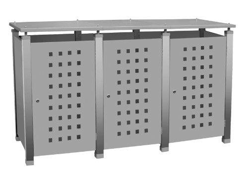 Mülltonnenbox Modell Pacco E Quad5 für drei 240 Liter Tonnen