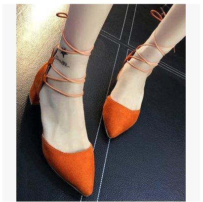 LGK&FA Tacco Alto Sandali Femmina Tacco Fine Rivettata Impermeabilizzazione Di Tacchi Alti 36 Nero 38 rough heel
