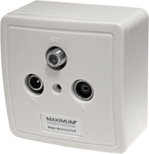 Kjaerulff1 Maximum MX-610 3-Loch Sat-Antennensteckdose