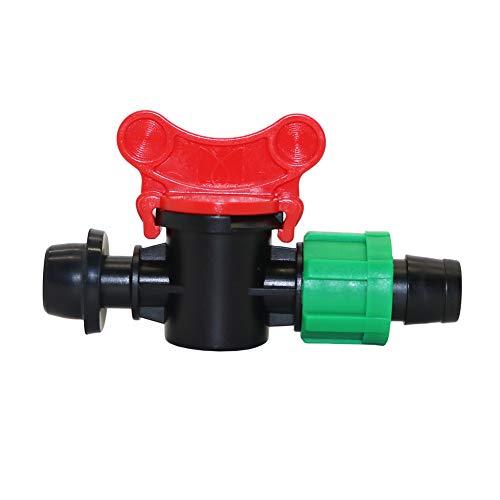 Adhere To Fly Lot de 5 valves en Caoutchouc avec verrou de dérivation pour Tuyau d'arrosage DE 13 mm à 15 mm