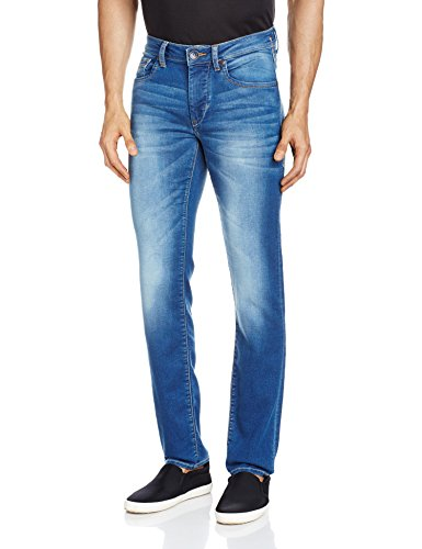 Flying Machine Men's Michael Tapered Fit Jeans (8907259694283_FMJN3674_32_Blue)