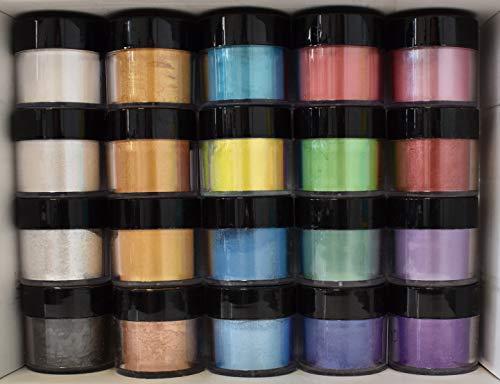 Daily Art Poudre de mica Pigment Nacré Lot de 20couleurs, 5G chaque