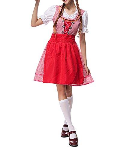 Bühnenkostüm Deutschland Oktoberfest Bayerischen Bier Traditionellen Kostüm Rot XL (Traditionelle Kostüme Aus Deutschland)
