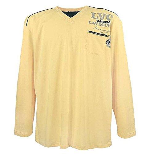 Übergrössen !!! Designer Langarm-Shirt LAVECCHIA in 2 Farben 3858 Gelb