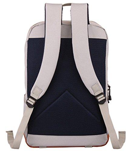 Stormiay Segeltuch -Rucksack Laptop-Tasche Computer Tasche College-Tasche Schultasche Sporttasche Reisetasche Wandern Tasche Camping Tasche Weekend Bag passt die meisten 15-Zoll-Laptop (Weiß) Blau