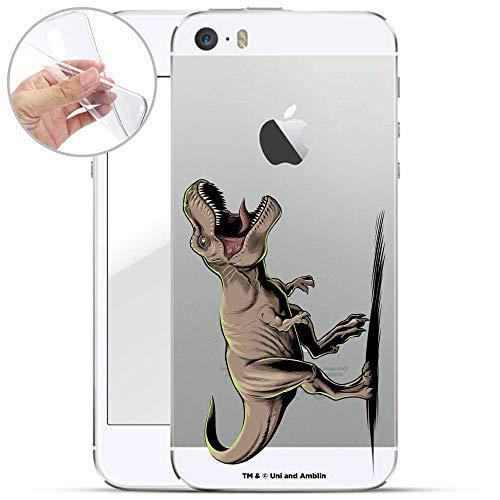 Finoo Hülle für iPhone 5 / 5S / SE - Handyhülle mit Motiv und Optimalen Schutz TPU Silikon Tasche Case Cover Schutzhülle - T-Rex auf der Jagd