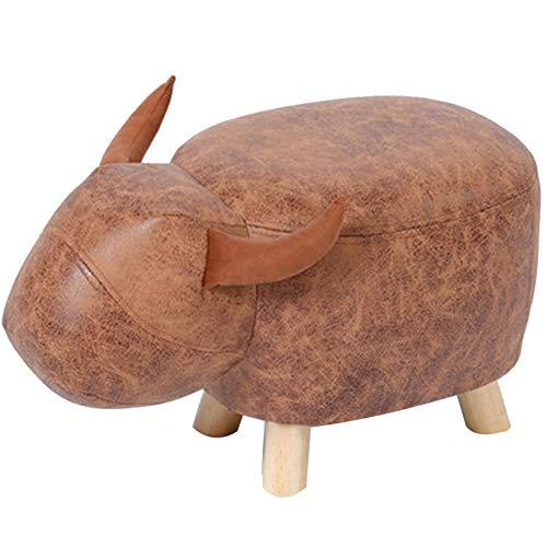 BYPING-Taburete puff Modelo De Dormitorio Elefantes PU Resistente Al Desgaste Algodón Transpirable,...