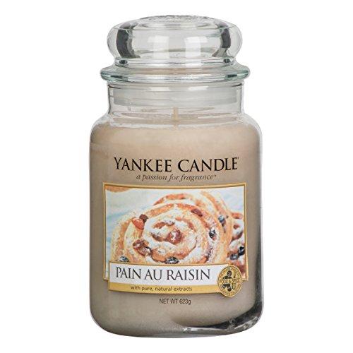 Yankee Candle, 1332252E, Candela profumata in barattolo di vetro, Pain Au Raisin, 623 g