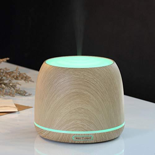 HDFIER luftbefeuchter ultraschall ionen Aroma Diffuser Ultraschall Vernebler und Duft Öl Verteiler für Bad, Yoga, Zuhause Leises buntes Beleuchtungsholzkorn