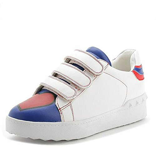 L@YC Frauen flache Schuhe Plattform Casual Student Fr¨¹hling Liebe Sneakers Wei? Schwarz White