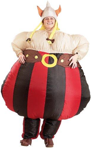 Playtastic Kostüm-Set: Selbstaufblasendes Kostüm Fetter Wikinger (Aufblasbare - Wikinger Kostüm