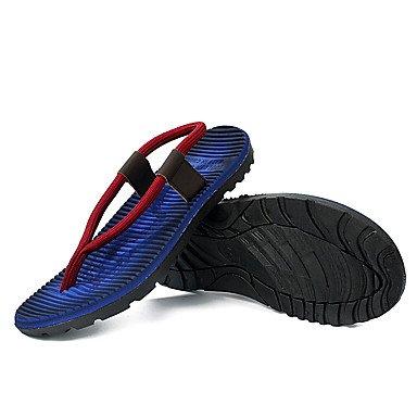 Slippers & amp da uomo;Luce, Primavera, Estate Soles microfibra Casual Altri Blu Rosso Altro Sandalo sandali US8 / EU40 / UK7 / CN41