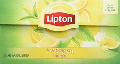 Lipton Thé Vert Citron 25 Sachets 33g - Lot de 3