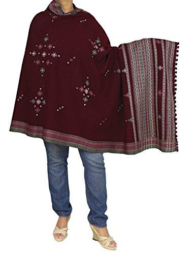 Écharpe brodée femmes indiennes main-dimensions : 92 x 213 cm