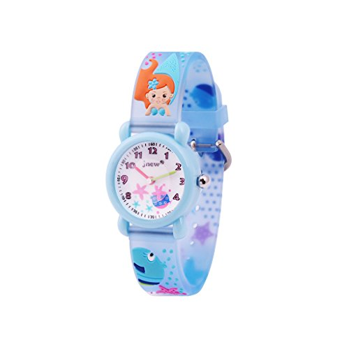 9042b3196605 WOLFTEETH Analog Muchachas Toddlers School Day Reloj con Segunda Mano Cute  Pequeño Ronda Dial Resistente al