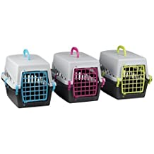 Brillo de mascota gato gatito perro conejo portador de la perrera jaula de transporte plegable de viaje, Vet