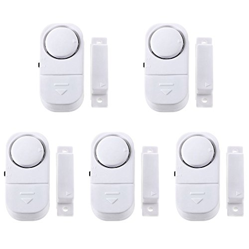 FACILLA 5 X WIRELESS Home Window Door Burglar Security ALARM System Magnetic Sensor 5 Packs 6*3*2cm