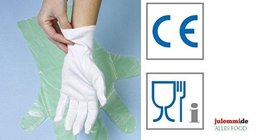 Baumwollhandschuhe weiß Größe M / L / XL / XXL - Polierhandschuhe Unterziehhandschuh Eindeckhandschuhe Confiserie-, Gastronomie-, Catering-Handschuhe, Karneval-Handschuhe (12 Paar L)