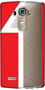 URBAN KOLOURS Original Designer Printed Clear Case Back Cover for LG G4 (Num 1-Clear)