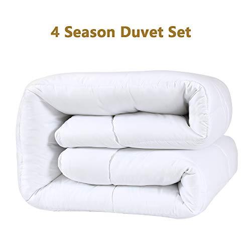 Duck & Goose 4 Jareszeiten Bettdecke Warme Winterdecke Kombidecke aus Einer Sommerdecke und Einer Übergangsdecke 155 x 220