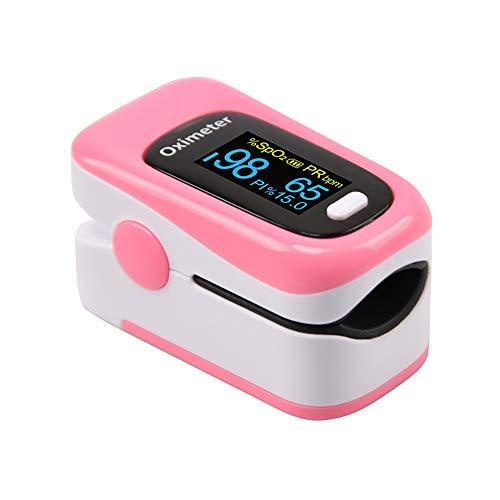 TBY Pulsoximeter, Mini tragbarer Finger-Oximetrie-Monitor mit Herzfrequenzmonitor, zweifarbiges OLED-Display für Familiensport im...