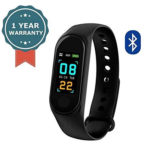 RAMBOT Bluetooth M3 Smart Band Sports Blood Pressure Heart Rate Tracker Health Wrist Smart Band Activity Tracker Watch Wristband Fitness Waterproof Touchscreen Anti Gravity Unisex