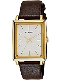 Sonata Analog White Dial Men's Watch NM7078YL01 / NL7078YL01