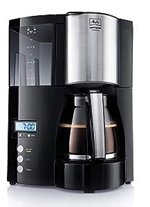 Melitta Optima Timer 100801 bk, Filterkaffeemaschine mit Glaskanne und...