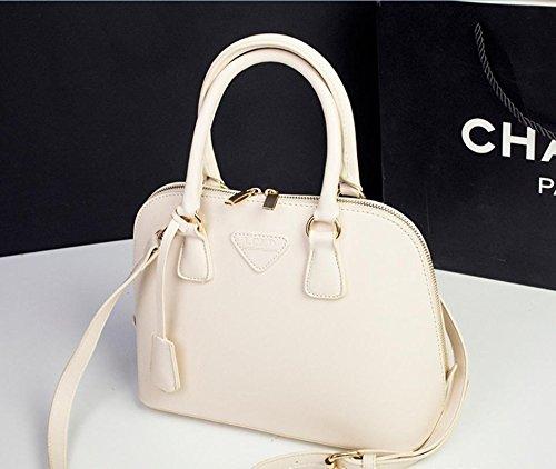 X&L Women's Mode Schale Tasche Handtasche Umhängetasche Diagonale Tasche meters white