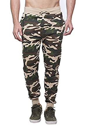Clifton Mens Army Slim Fit Track Pant-Saffari-XL