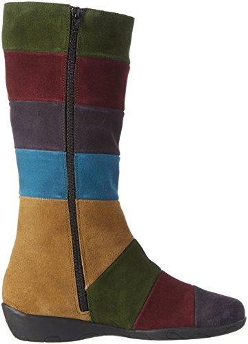 Johannes W. Karena, Bottes longues femme Multicolore - Mehrfarbig (Combi Multi)