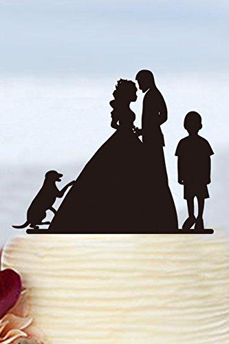 romantico-sposa-e-sposo-wedding-cake-topper-with-dog-family-wedding-cake-topper-con-ragazzo