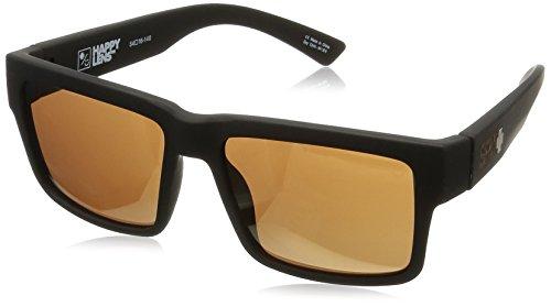 SPY OPTIC Sonnenbrille Montana soft matte black - Happy bronze Gold Mirro Brille Sunglasses