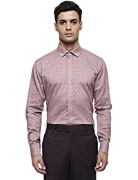 4fe3c6c1e8f MODA HOMBRE Menswear Pink Self Textured Shirt with Angled Cuffs and Cutaway  Collar