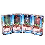 Four Marvel action figures suitable from 4+ years Set includes Hulk, Spider-man, Iron Man & Captain America.