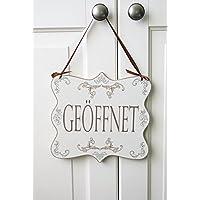 GEÖFFNET / GESCHLOSSEN – Doppelseitiges Geschäftsschild aus Holz