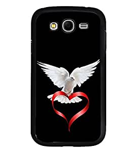 Fuson Designer Back Case Cover for Samsung Galaxy Grand I9082 :: Samsung Galaxy Grand Z I9082Z :: Samsung Galaxy Grand Duos I9080 I9082 (Pigeon Love Heart red Heart Purity)
