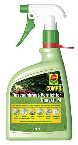 COMPO Rasenunkraut-Vernichter Banvel M Spray 1000 ml, Rasenunkraut- Vernichter, Unkraut- Ex