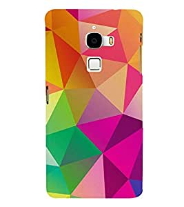 FUSON Abstract Background Consisting Triangles 3D Hard Polycarbonate Designer Back Case Cover for LeTv Le Max :: LeEco Le Max