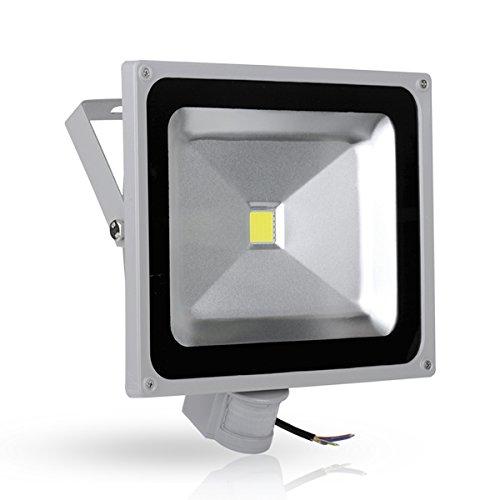 WIDEN ELECTRIC LED de 50w Projecteur Extérieur Blanc Froid Lampe de LED 50w avec Détecteur de Mouvement PIR IP65 Imperméable