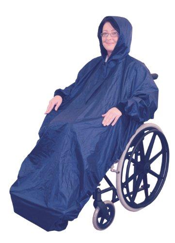 Aidapt VA127ST Regenmantel für Rollstuhlfahrer mit Ärmeln, Fleece gefüttert
